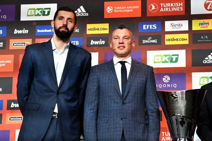 Nikola Mirotic Sarunas Jasikevicius FC Barcelone