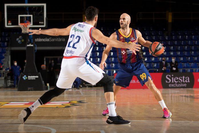 Nick Calathes Vasilije Micic FC Barcelone Anadolu Efes